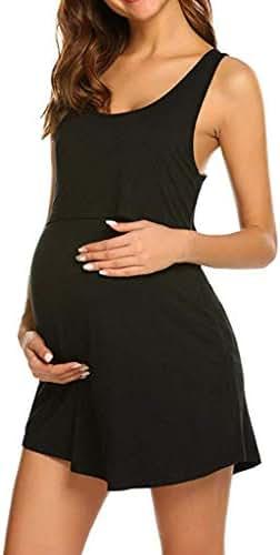 Shybuy Maternity and Nursing Dress, Nursing Nightgown Nightdress Maternity Pregnancy Soft Breastfeeding Dress
