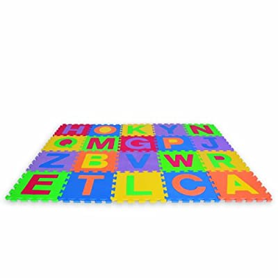 Edushape Edu-tiles 26 Piece 6x4ft Play Mat Uppercase Letters by Edushape