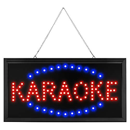 CHENXI Led Karaoke neon Sign New 48X25 cm Indoor Ultra Bright Flashing Customed Karaoke Store Led Sign (48 X 25 cm, B) - New Led Sign
