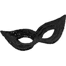 Black Sequin Harlequin Eye Mask