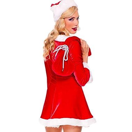 Toocool - Costume carnevale set abito BABBA Babbo NATALE donna  travestimento DL-2024  Taglia unica 0841923669e
