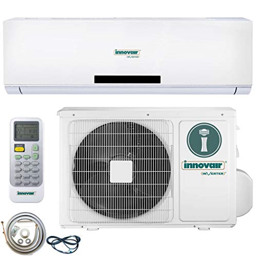 Innovair Air Conditioner Inverter Ductless Wall Mount Mini Split System Heat Pump Full Set 17~19 SEER (36000 BTU 208~230V Heat Pump)
