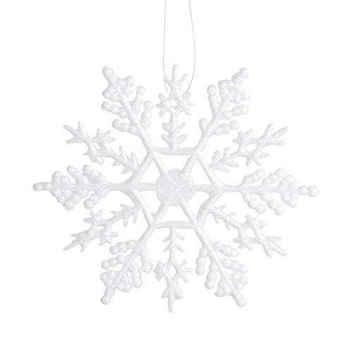Darice 1619-61 10-Piece Snowflake Ornament , 4-Inch, White -