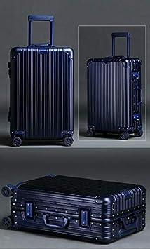 Kehuitong Maletas de viaje Todas las maletas de aleación de aluminio y magnesio Maletas para hombres y mujeres Caja de marco de aluminio Caja de trolley de negocios completamente metálica Caja dura Bl