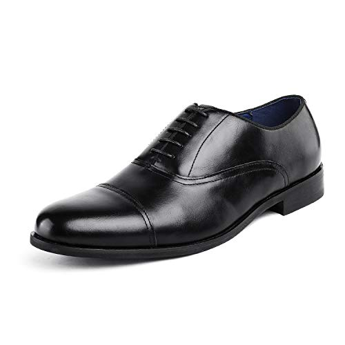 Bruno Marc Men's Dress Shoes Formal Oxfords Florence_6 Black Size 7.5 M US