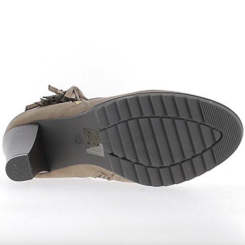 Stivali bassi mole a 8,5 cm aspetto camoscio tacco