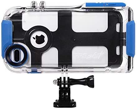 ProShot Waterproof Case Compatible with iPhone 6 Plus, 7 Plus, and 8 Plus, and Compatible with all GoPro Mounts