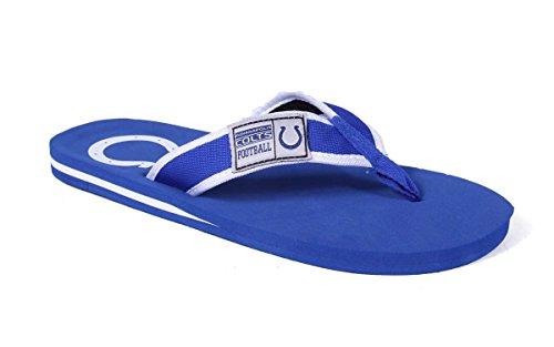 Forever Samlarobjekt Officiellt Licensierade Nfl Kontur Flip Flops - Glada Fötter Och Bekväma Fötter Indianapolis Colts