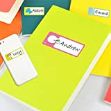 FIged Stationary Supplies, Name Labels Stickers Personalized Waterproof Multi Use Self Adhesive School Daycare Camp