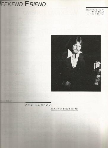 Sheet Music 1978 Weekend Friend Con Hunley 44