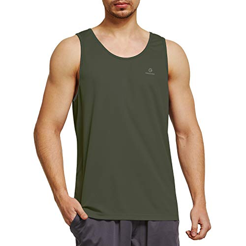 Ogeenier Men's Training Quick-Dry Sports Tank Top Shirt for Gym Fitness Bodybuilding Running Jogging