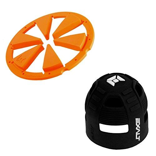 Exalt Dye Rotor Paintball Loader FeedGate - Orange + Exalt Tank Grip by Exalt