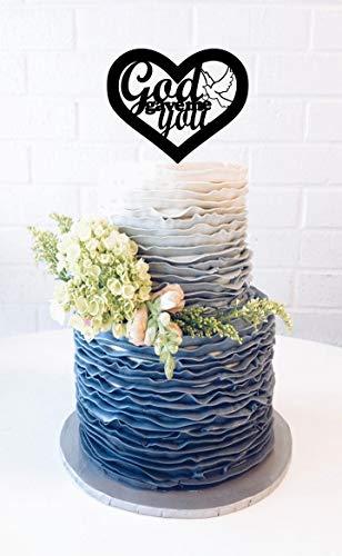 - God Gave Me You Wedding Cake Topper With Dove Cake Topper God Gave Me You Cake Topper Religious Wedding Biblical Wedding Anniversary Cake