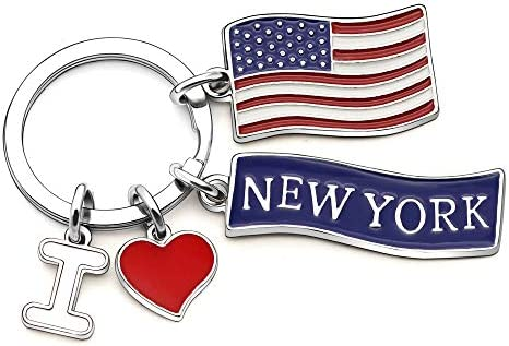 Porte-cl/és americain Best Friend Cadeau danniversaire I Love New York