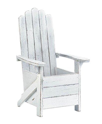 Fennco Styles 10018012 Patio Garden Decorative Beach Chair Planter (White) Adirondack by Fennco Styles