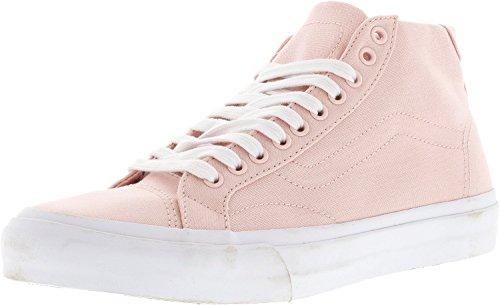 Vans Herren Court Mid Canvas Low Top Schnürschuhe Fashion Sneakers Rose Qurtz