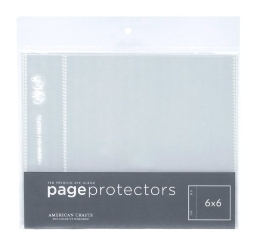 B001CRFPIW American Crafts 6-Inch by 6-Inch Page Protectors 41DkzrNicNL