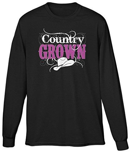 - Blittzen Mens Long Sleeve T-shirt Country Grown, L, Black
