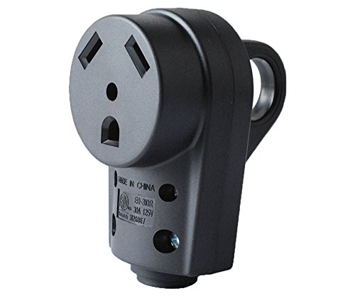 Wadoy 30 Amp RV Plug Replacement Female Receptacle Adapter with Ergonomic Grip Handle 30A RV Female Cord End