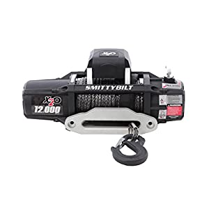Smittybilt 98512 X 2O Waterproof Synthetic Rope Winch - 12000 lb. Load Capacity