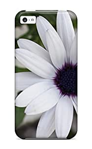 Best White Flowers Durable Iphone 5c Tpu Flexible Soft Case 6837166K96961322