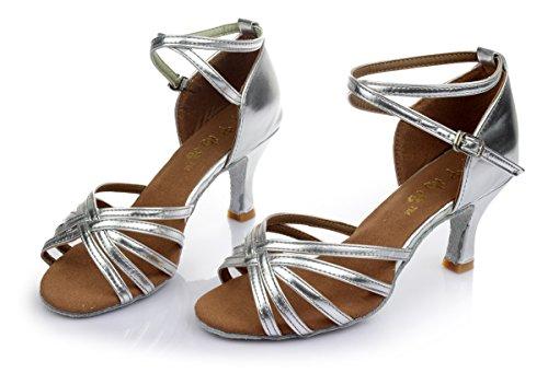 Mujer Baile Latino Zapatos de Zapados de Para Para Alharbi de Baile Satin Mujer Zapatos Sal wTx1XgRq