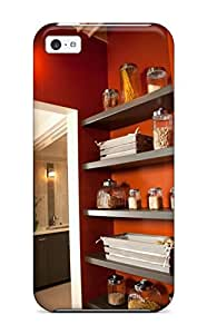Premium Wood Shelves In Laundry Room For Pantry And Storage Heavy-duty Protection Case For Iphone 5c