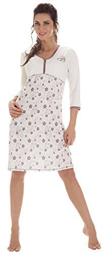 Cornette Damen Nachthemd CR-652/03 Ecru eOm8mskCWW