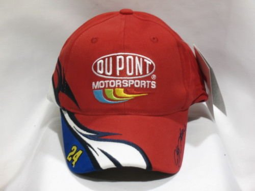 Jeff-Gordon-24-Chase-Authentics-Red-With-White-Blue-Accents-Dupont-Motorsports-Hat-Cap-One-Size-Fits-Most-OSFM-Adjustable-Velcro-Strap