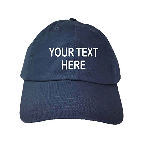 Go All Out Adjustable Navy Adult Customized Add Your Own Text Embroidered Dad Hat