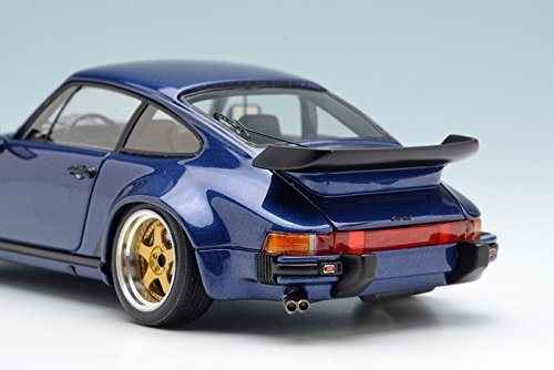 Amazon.com: Makeup VISION 1/43 Porsche 930 Turbo 1988 Dark Blue Metallic (Black Interior Gold / polished rim) finished product: Toys & Games