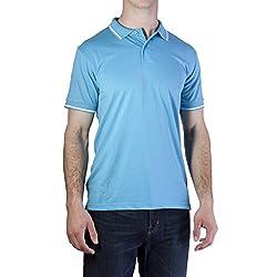 Vertical Sport Men's Cotton Blend Jersey Polo Shirt A-667 (Medium Aqua)