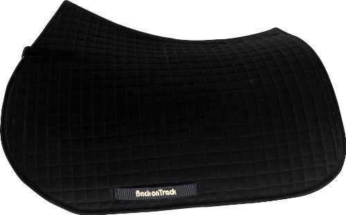 Back On Track Therapeutic Horse All Purpose Saddle Pad, 23-Inch Spine by 19-Inch Drop, Soft Black