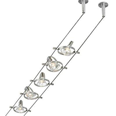 Front Street Lighting Tiella Accent Electronic Low Volt Track Lighting Kit 100 W Halogen 800CBL5PN, Nickel