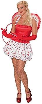 Amor amor Diosa para mujer Disfraz Blanco Rojo: Amazon.es ...