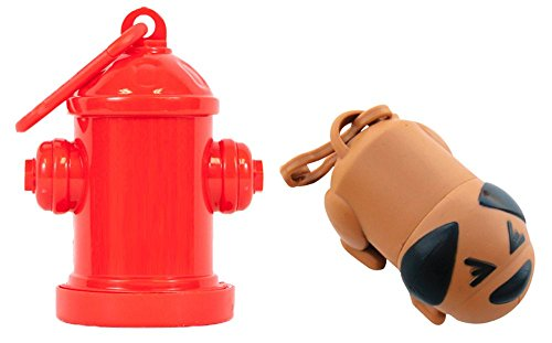 CalTokyo Premium Constipated Dog and Fire Hydrant Poop Bag Combo