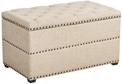 Cheap Homebeez Storage Ottoman Tufted Rectangular Bench Foot Rest Stool ottoman chair for sale