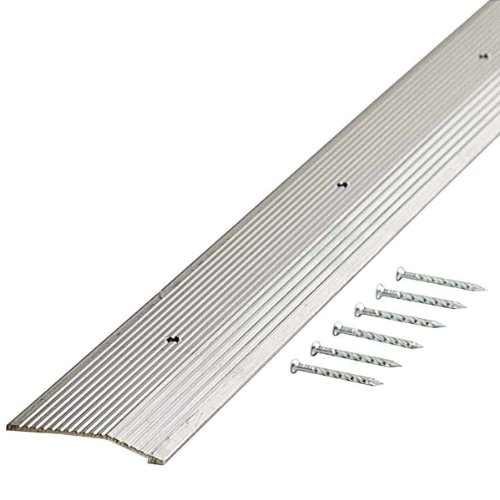 M-D Building Products 78089 Fluted 7/8-Inch by 72-Inch Carpet Trim, Silver (Silver Fluted Carpet Bar)
