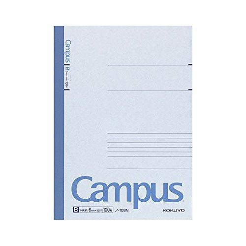 生活日用品 文具オフィス用品 (まとめ買い) キャンパスノート(中横罫) セミB5 B罫 100枚 ノ-10BN 1セット(5冊) 【×3セット】   B073WV87N5