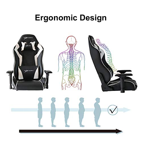 Ewin Gaming Office Chair 4D Adjustable Armrests Memory