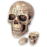bricabreizh Cenicero Tribal con diseño de cráneo,