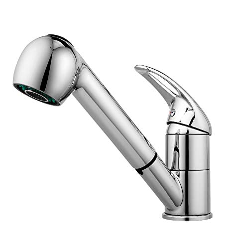 Why Should You Buy Kitchen Faucet, Modern Commercial Stainless Steel Single Bar Faucet Chrome Pull D...