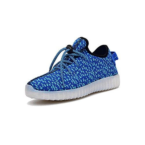 TechHype 7 Color LED Luminous Unisex Mesh Sneakers USB Charging Light Colorful Glowing Flashing Shoes