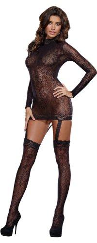 Dreamgirl Women's Sorento Dress, Black, One Size