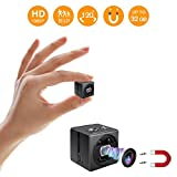 Hidden Spy Camera - Full HD 1080P Portable Mini Camera Nanny Cam - Smallest Magnetic Camera - Security Camera Night Vision/Motion Detection Home Car Office,Indoor/Outdoor-No WiFi Function