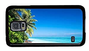 Hipster silicone Samsung Galaxy S5 Cases Beach Palms Sun PC Black for Samsung S5 by runtopwell