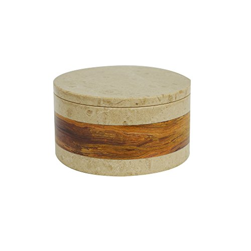 Desert Sand Granite - Polished Marble Jar, Desert Sand and Amber Shower and Bathroom Accessory