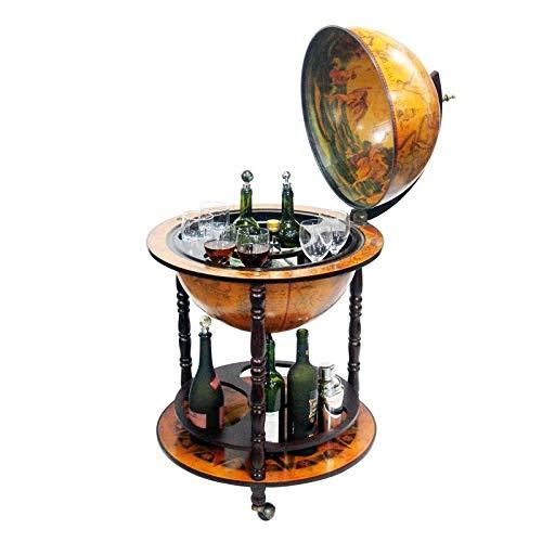 Merske 20-Inch Diameter 16th Century Italian Style Floor Globe Bar by Merske