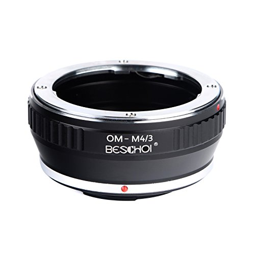 Beschoi OM-Micro 4/3 Lens Adapter, Lens Mount Adapter for Olympus OM Lens to Micro Four Thirds (MFT, M4/3) System Camera Body, Fits Olympus Pen and Panasonic Lumix Cameras (Olympus Om To Micro Four Thirds Adapter)