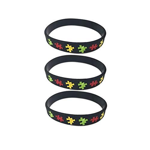 JOYID Autism Awareness Bracelet Silicone Rubber Band Elastic Wristbands ()